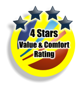 4 Stars Value & Comfort Rating